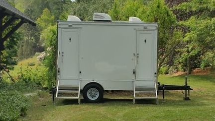 Restroom trailer rental @ a private estate in west Marin